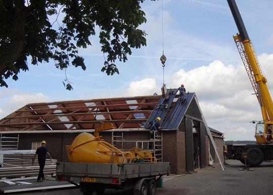 dakplaten met isolatie werkschuur boerderij